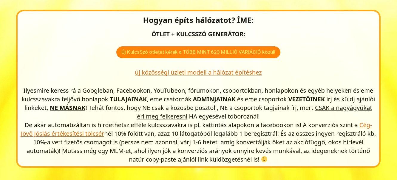 Új ötlet és kulcsszó generátor TÖBB MINT 623 000 000 ötletvariációval!